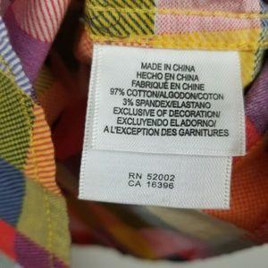 Liz Claiborne Tops - Liz Claiborne multi colored long sleeve button up